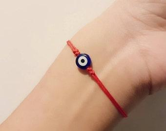 Evil Eye Bracelet, Nazar Bracelet, Lucky Bracelet, Turkish Evil Eye, Evil Eye Protection, Charm Bracelet, Friendship Bracelet, Tiny Bracelet
