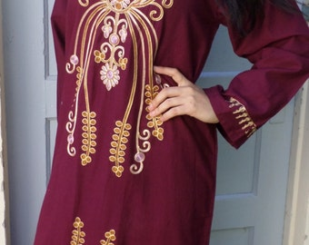 Egyptian, authentic Egypt, embroidered, hipster, Princess, maxi dress