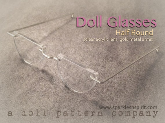 Doll Glasses - Half Round