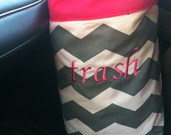 "Car trash bag ""trash"" Custom made in any color or print ."