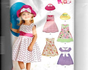 New Look Girls' Dress and Hat Pattern 6879