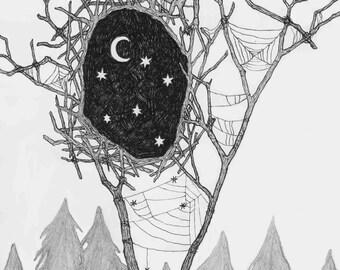 Moon Nest - Print