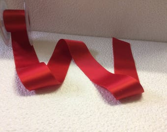 2 m 10 satin ribbon double sided red screw 4cm wide