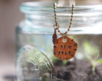 Be Free penny necklace