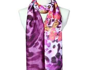 Womens Scarf, Leopard Print Scarf, Floral Print Scarf,  Fashion Scarf, Chiffon Scarf, Voile Scarf, Cotton Scarf