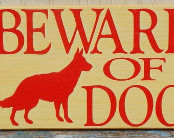 Beware of Dog Wooden Sign!