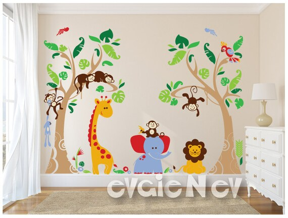 Wonderful Jungle Safari Wall Decals Baby Wall Decals Nursery Wall
