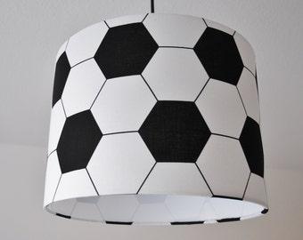 Soccer lampshade etsy lampshade football aloadofball Images