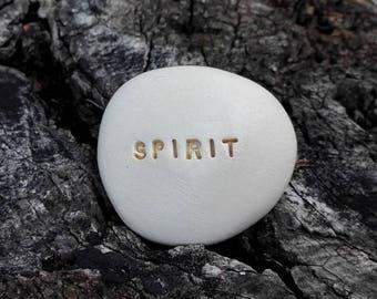SPIRIT - Ceramic Message Pebble