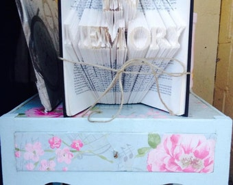 In Memory Folded Book Art **Pattern** and instructions PDF