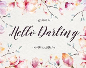 Font download - Calligraphy font - Font instant download - Digital font - Handwritten font - Wedding font - different fonts font maker