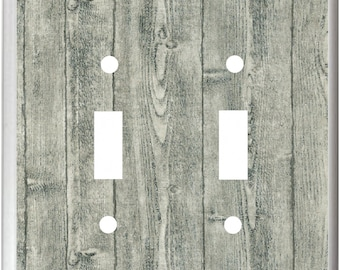 Gray  Barn Board Image Design Light Switch Cover Plate or Outlet  Home Decor  Free Shipping to U.S.!!!  You pick plate size
