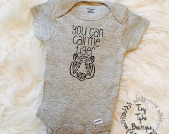 You Can Call Me Tiger Onesie, baby onesie, tiger onesie, animal onesie, baby shower, baby gift, funny onesie, baby boy, infant clothing