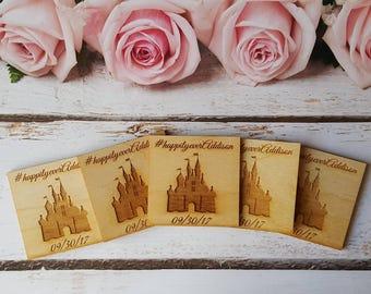 50 Wedding Disney Save the Date Magnets, Disney Wedding Favors, Save the date magnets, Wedding favor magnets