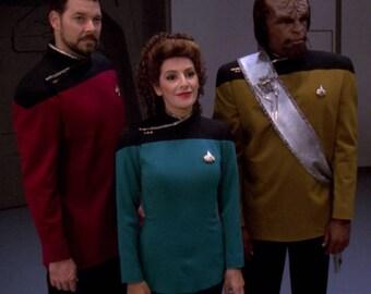 Star Trek TNG DS9 Voyager Dress Uniform Costume Cosplay