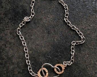 Mini Cuffed Heart Chain Metal Necklace