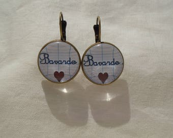 Chatty chatty cabochons earrings