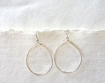 Silver Sundance Hoop Earrings, Silver Hoop Earrings, Sterling Silver Hoops