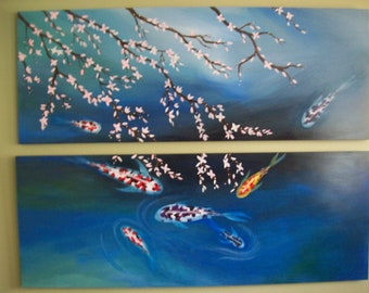 Large koi Painting