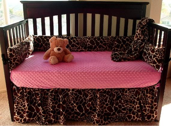 Giraffe Baby Crib Bedding Set
