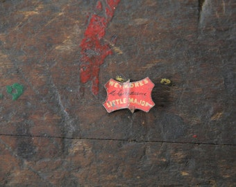 antique Wetmore's Little Major tobacco tin tag advertising destash tobacco tag