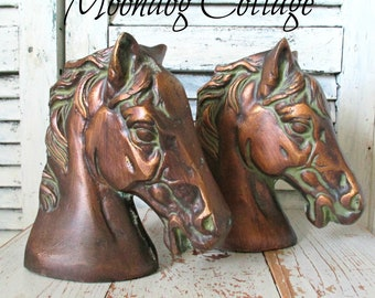 Gorgeous Vintage Horse Head Bookends!