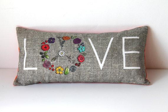 "Cushion for yoga and meditation ""LOVE"""