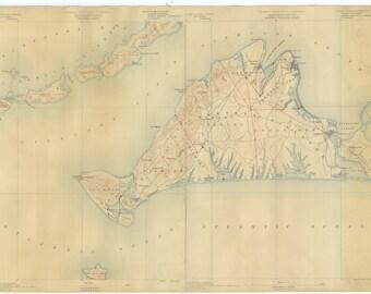 Martha's Vineyard Map 1887