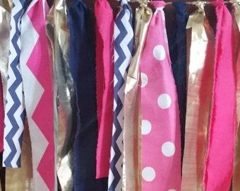 Nautical Birthday Girl, Baby Girl Nautical, Nautical Bridal Shower, Bridal Shower Pink Navy, Pink Navy Gold Shower, Nautical Bunting