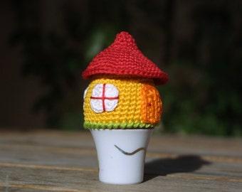 Crochet House Egg Cozy PDF Pattern, Easter