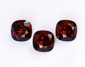 12 mm BURGUNDY Swarovski Cushion Cut Square Fancy Stones Article 4470