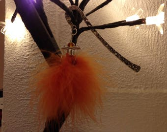 ORANGE DUSTER TASSEL BOOKMARK