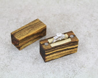 Engagement Ring Box // Wood Ring Box // Proposal Ring Box // Slim Engagement Ring Box // Ring Box // Engagement Box // Engagement Ring
