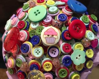 Handmade button bouquet
