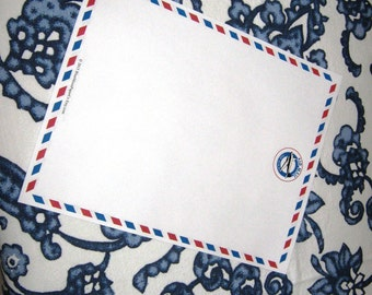 """Stationery, Unruled, Air Mail 8.5"""" x 11"""" Designer Stationery"""