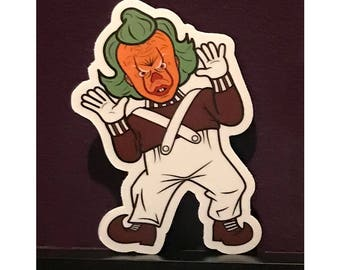 Oompawise - Pennywise x Oompa Loompa Mashup Sticker