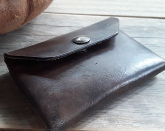Small Wallet - Mens Card Wallet - Credit Card Case - Coin Pocket Leather - Leather Business Card Holder - Sturdy Leather Card Case