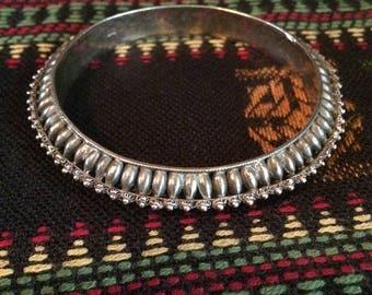 Antique Genuine Silver Tribal Bangle Bracelet
