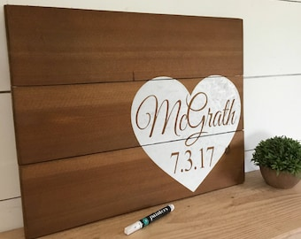 Rustic Wedding Guest Book Sign - Wooden Wedding Guest Sign - Wood Wedding Sign - Heart Sign - Pallet Sign - Rustic Wedding Decor