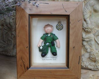 PERSONALISED PARAMEDIC GIFT, Polymer Clay Framed Gift,  Retirement, Promotion, Birthdays