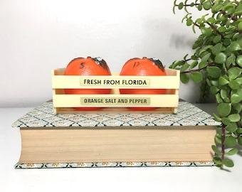 Vintage Florida Oranges Salt and Pepper Shakers