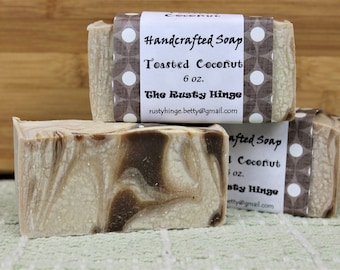 Toasted Coconut Soap Handmade, homemade handcrafted, natural soap