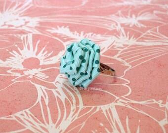 Cute Polka Dot Flower Drop - Mint Green