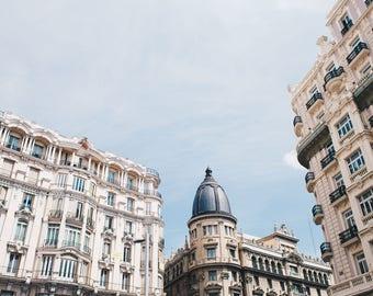Madrid, Spain, Architecture, Gran Via, Spanish Streets, Travel Photography, Spanish, Travel, Print, Photograph, Fine Art, Wall Art