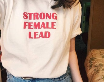 STRONG FEMALE LEAD, 100%Cotton, Women, BuyTeeFeedCats