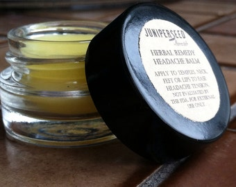 Herbal Headache Balm Temple Salve - Folk Remedy for Tension
