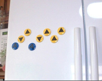 Legend of Zelda Magnets - Ocarina of Time Music Notes Magnet Set (9 magnets) geek video game fan of the triforce and nintendo cosplay