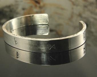 Viking rune cuff bracelet