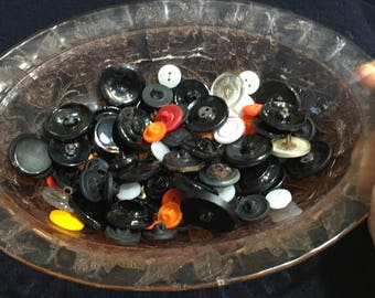 Lot Of Assorted Vintage Pre 1945 Czech Glass Buttons