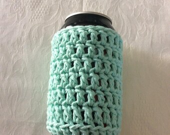 Can Cozy, Crochet Can Cozy, Soda Cozy, Beer Cozy, Water Bottle Cozy, Handmade Crochet Item